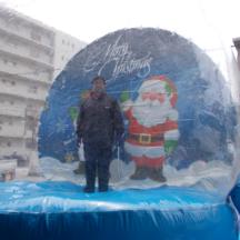 ふわふわ クリスマスドーム