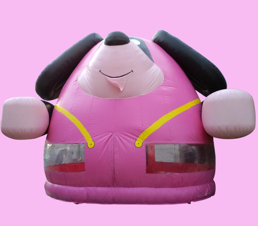 ふわふわ ピンク犬